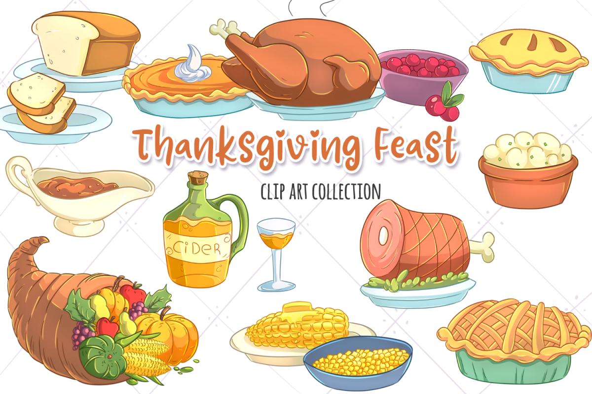Feast clip art collection. Clipart thanksgiving brunch