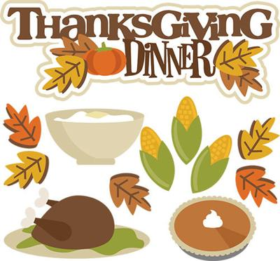 Holiday dinner s on. Clipart thanksgiving church