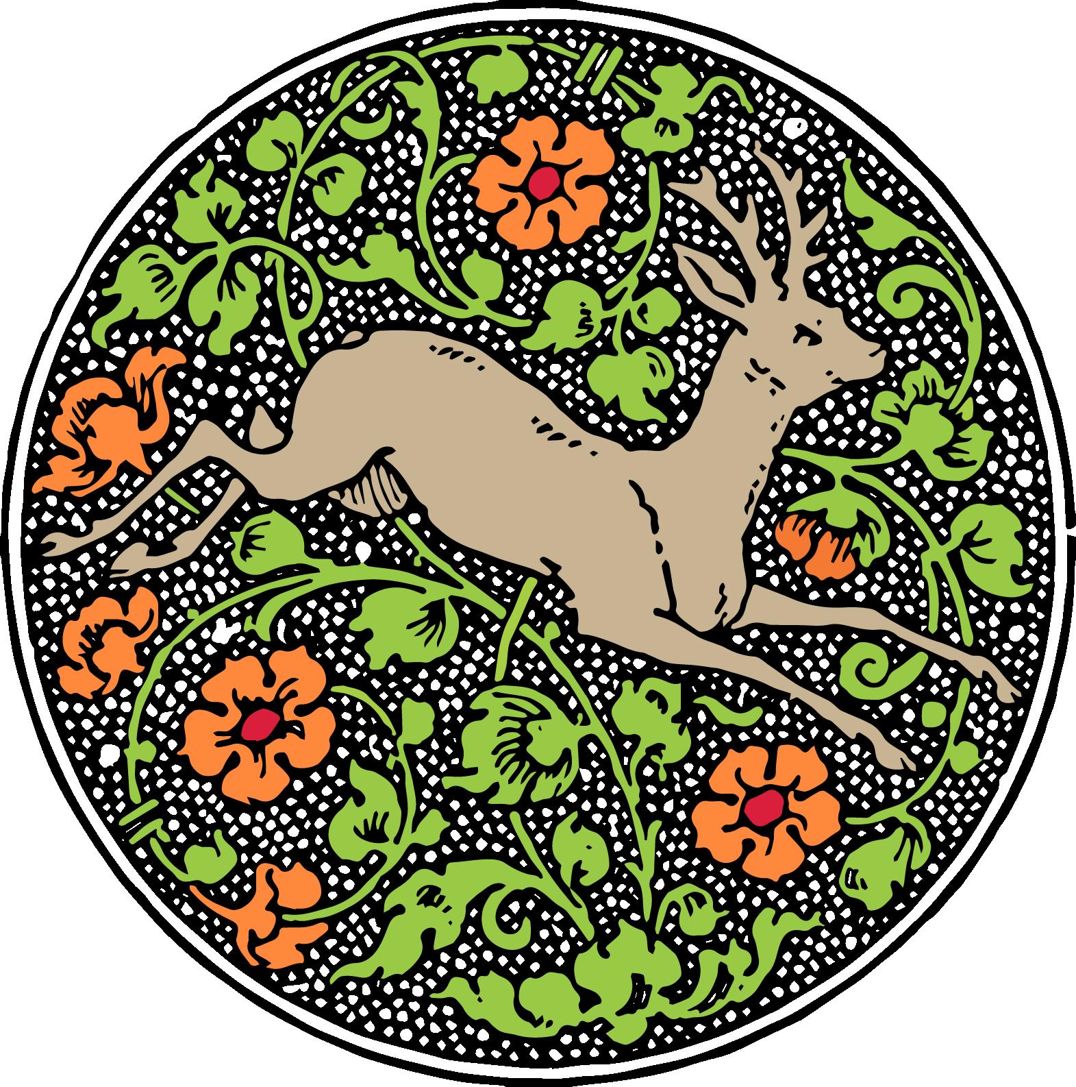 Vintage deer emblem free. Mushrooms clipart printable