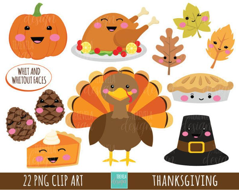 sale commercial use. Clipart thanksgiving cute