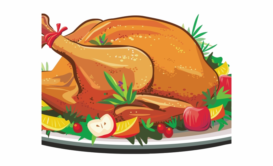 Cooked turkey thanksgiving . Feast clipart roast dinner