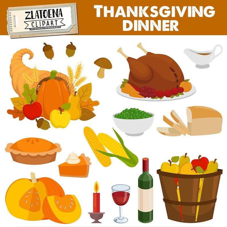 Dinner clip art graphic. Clipart thanksgiving eating