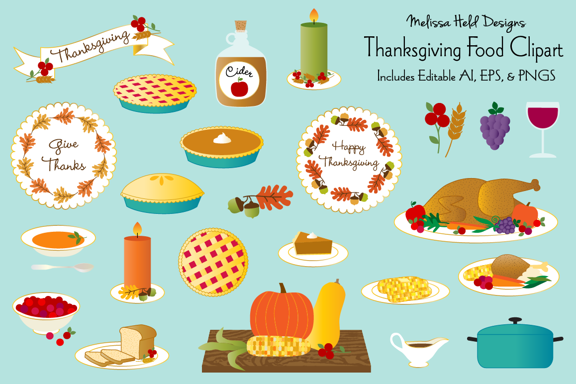 Clipart thanksgiving eating. Food