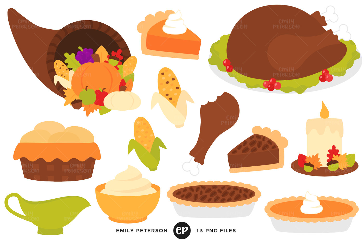 Dinner by emily peterson. Clipart thanksgiving eating