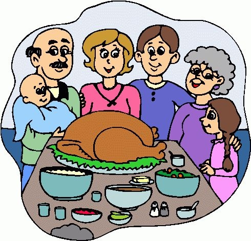 Clipart thanksgiving family. Dinner table free download