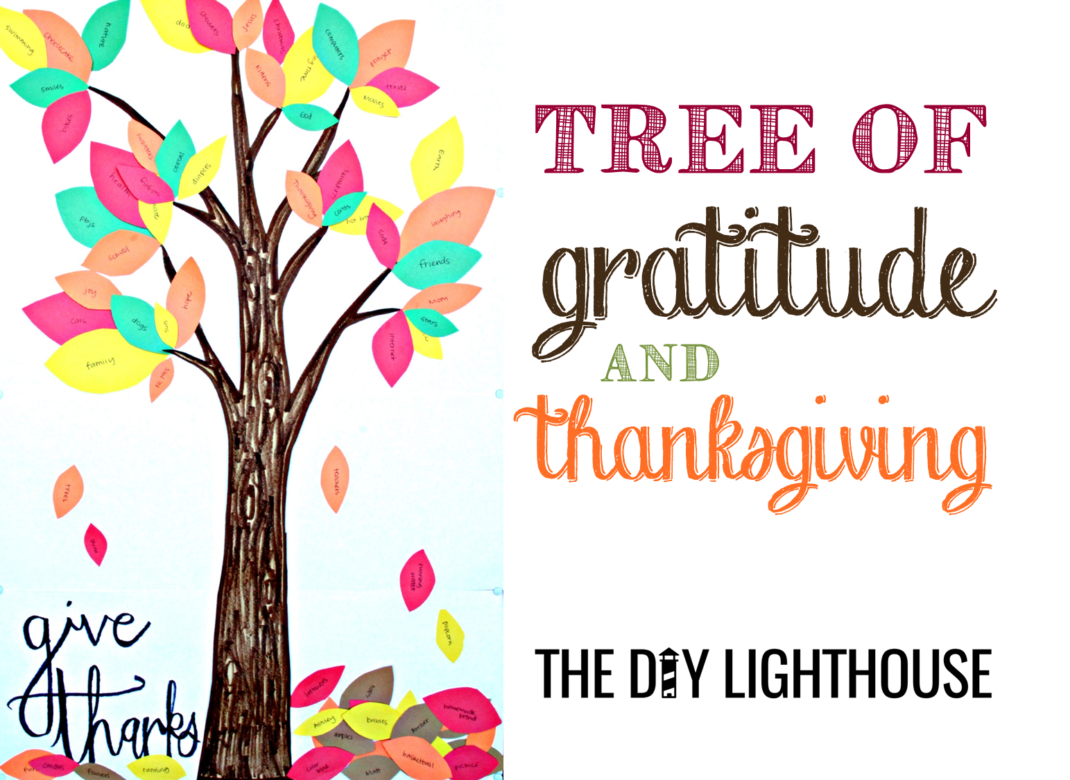 Leaf clipart thanksgiving. Tree of gratitude and