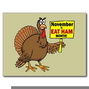 Turkey eat free images. Clipart thanksgiving ham