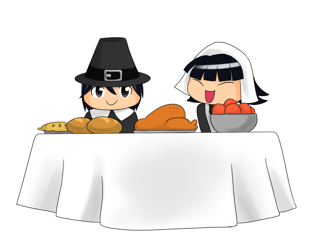 collection of free. Pilgrims clipart table