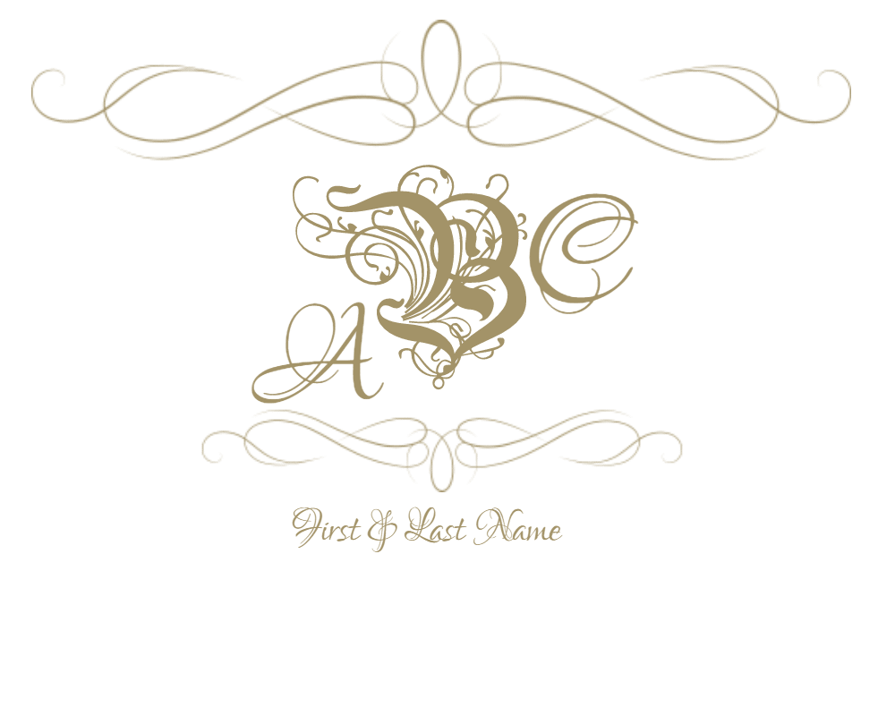 Free customizable frames and. Monogram frame png