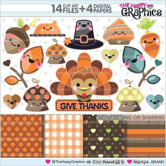 Graphic commercial use . Clipart thanksgiving pinterest