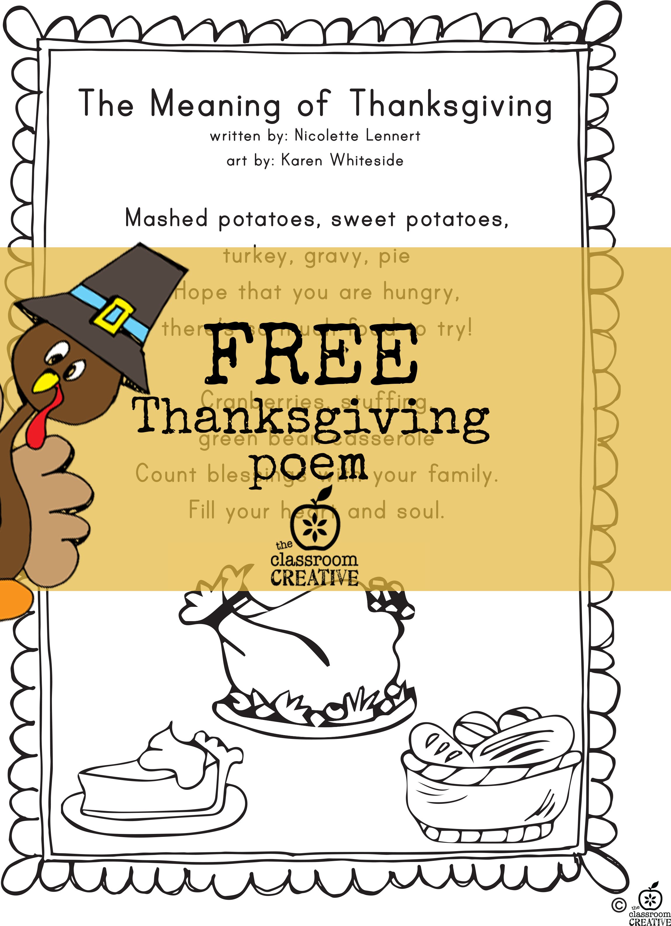 collection of thanksgiving. Poetry clipart printable