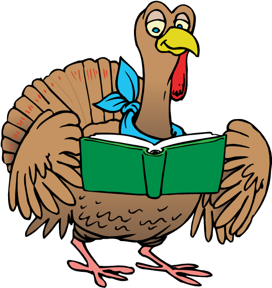Download turkey a . Clipart thanksgiving reading