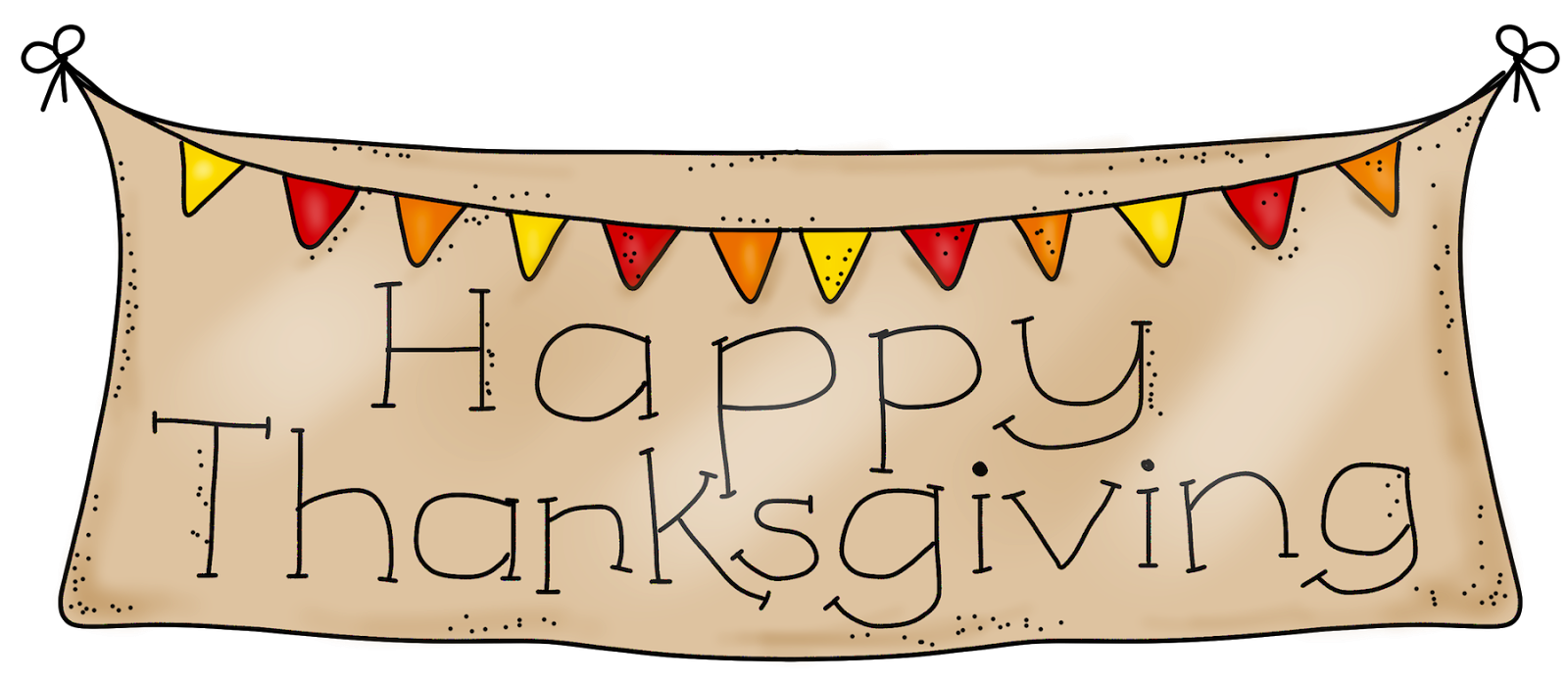 Happy banner cyberuse printable. Clipart thanksgiving ribbon