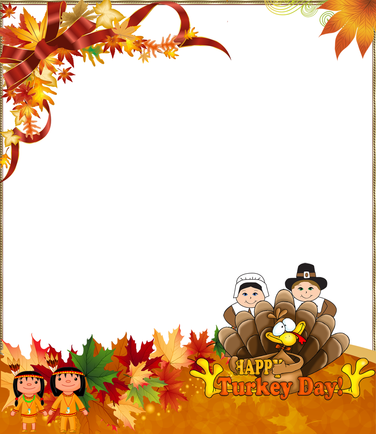 Clipart thanksgiving ribbon. Png photo frame happy