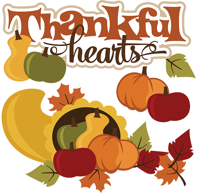 Clipart thanksgiving scrapbook. Thankful hearts svg file