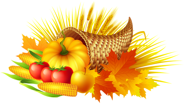 Clipart thanksgiving transparent background. Cornucopia png clip art
