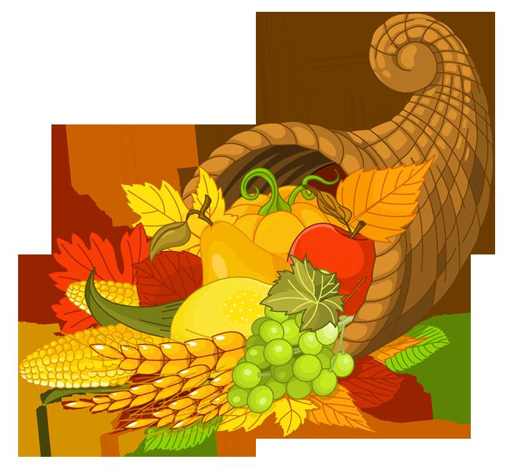 Cornucopia clip art . Clipart thanksgiving vegan