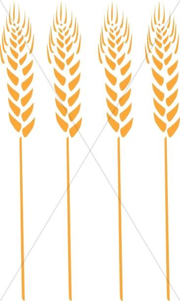 Wheat clipart shaft. Four stalks thanksgiving