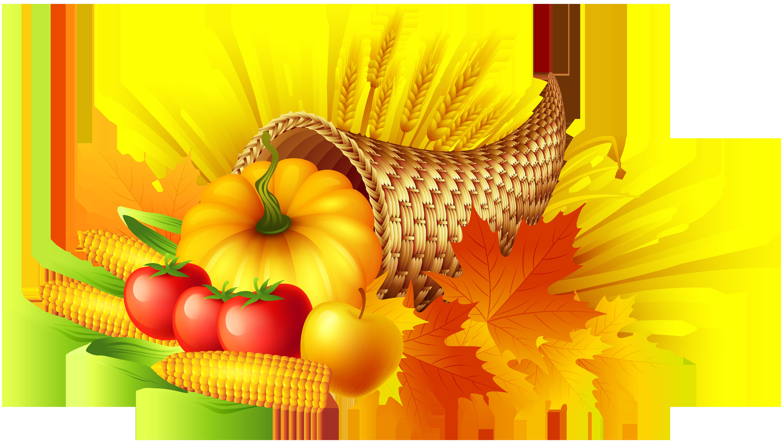Wheat clipart thanksgiving. Cornucopia transparent png clip