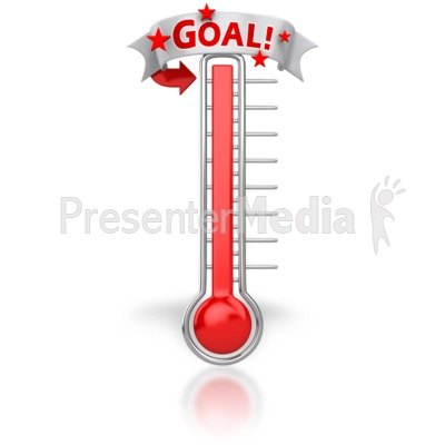 Goals clipart animated. Thermometer reached our goal