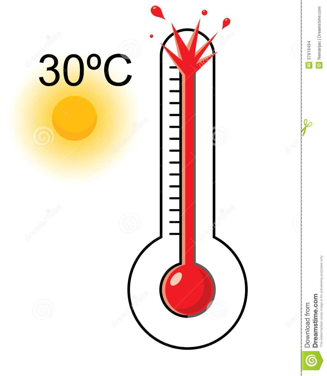 Clipart thermometer coloured. Hot and cold free