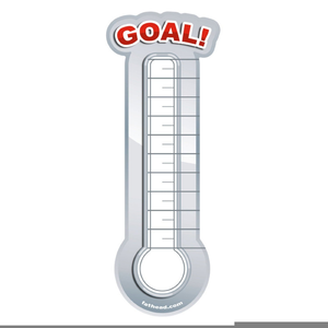 Raiser free images at. Clipart thermometer fund
