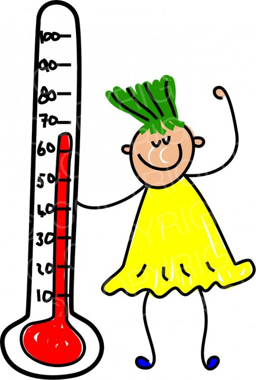 Clipart thermometer happy. Cartoon kid toddler art