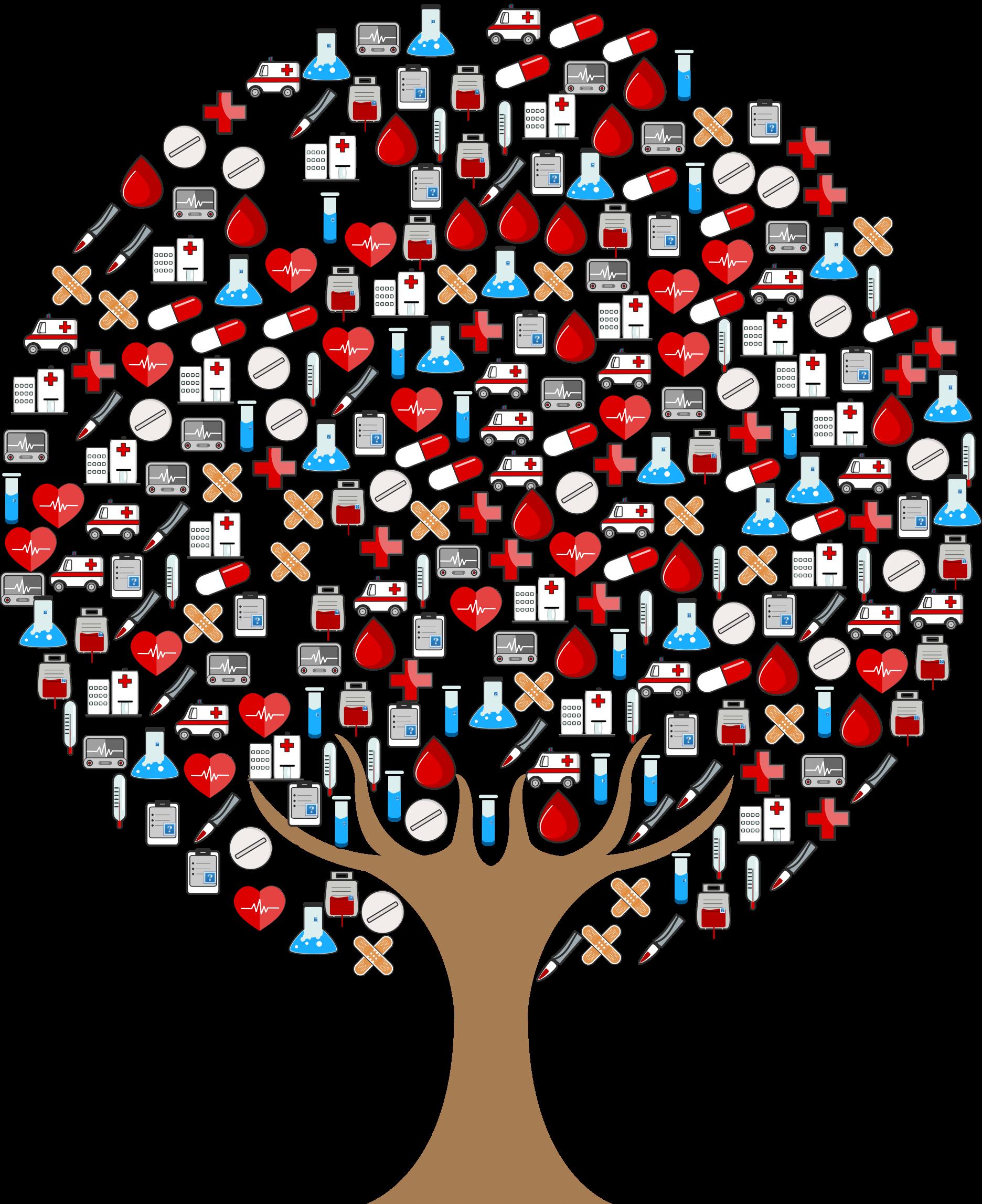 Icons tree big image. Medical clipart hospital