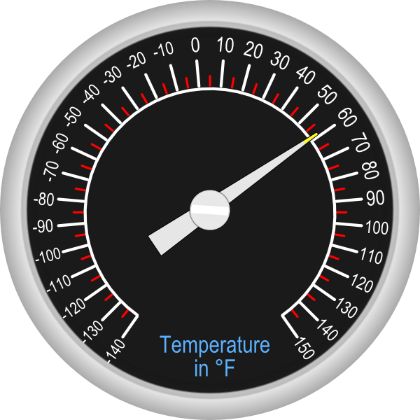 Analog clip art at. Clipart thermometer hot cold
