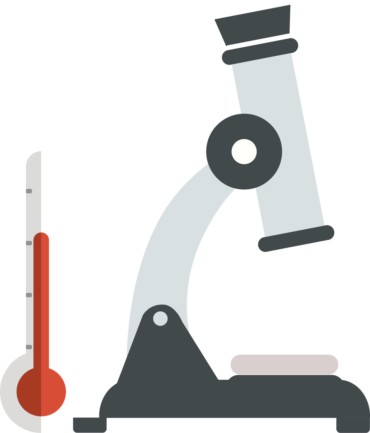 Clipart thermometer laboratory thermometer. Test tube microscope and