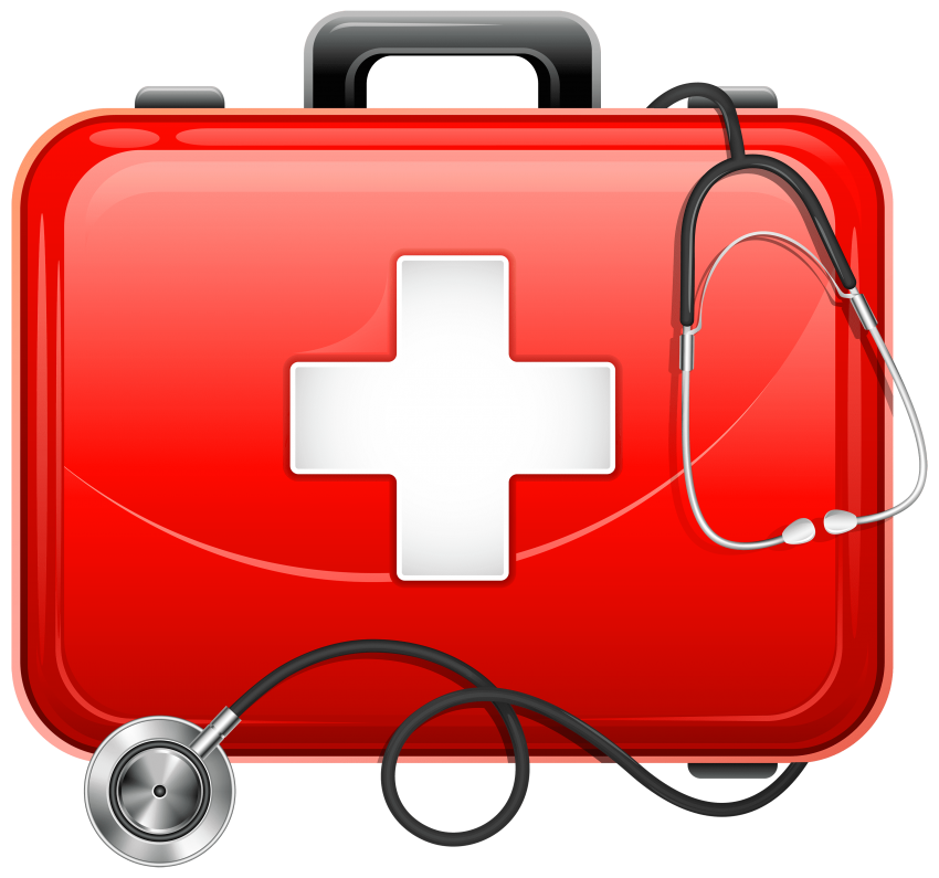 Clipboard clipart stethoscope. Medical bag and png