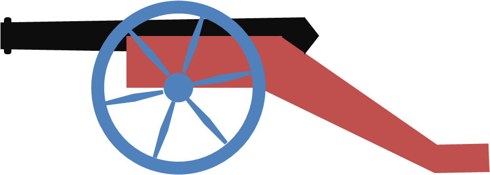 Powerpointy cannon. Clipart thermometer outline