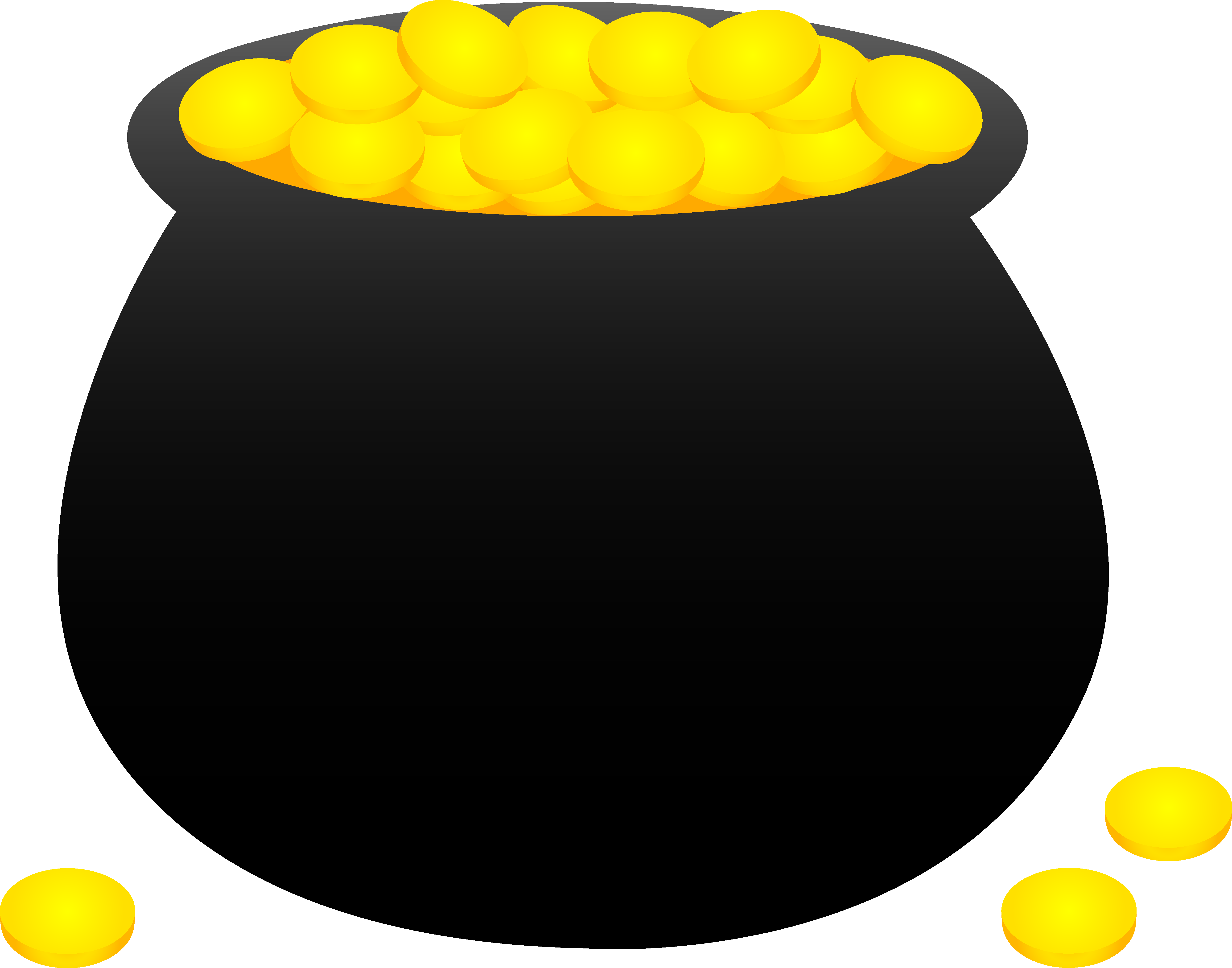 Rainbow black and white. Coin clipart real gold