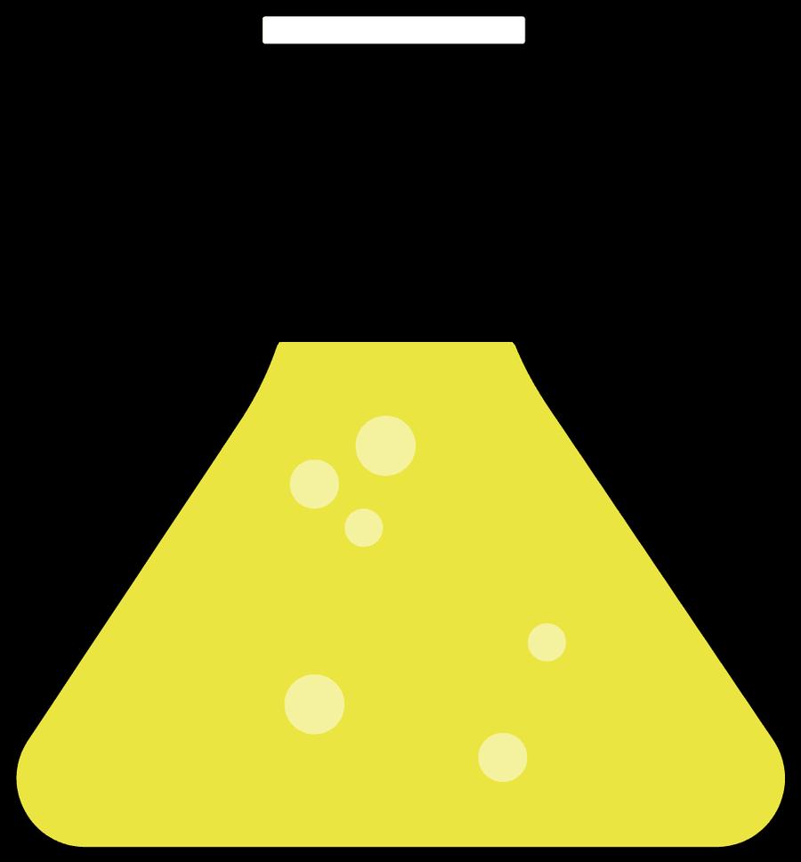 questions. Beaker clipart yellow