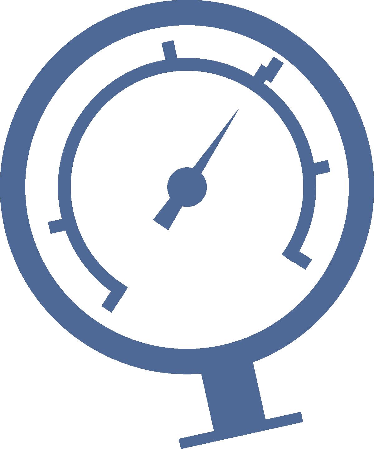 A autoclavable pressure gauge. Heat clipart temperature sensor