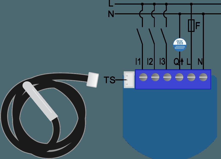 Heat clipart thermostat. Flush on off qubino