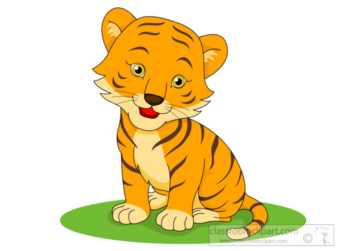 Clipart tiger. Free clip art pictures