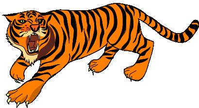 Clipart tiger. Public domain