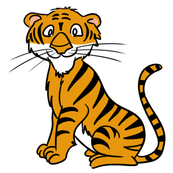 Planeten clipart cartoon. Tiger face clip art