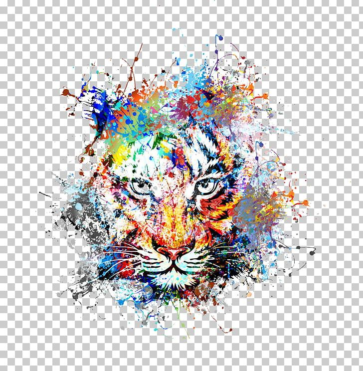 Clipart tiger abstract. Art drawing painting png