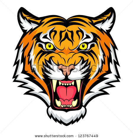 Face clip art library. Clipart tiger angry