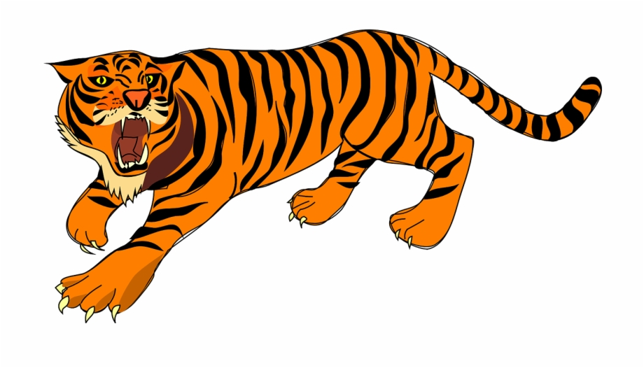 Defense stripes png image. Clipart tiger angry