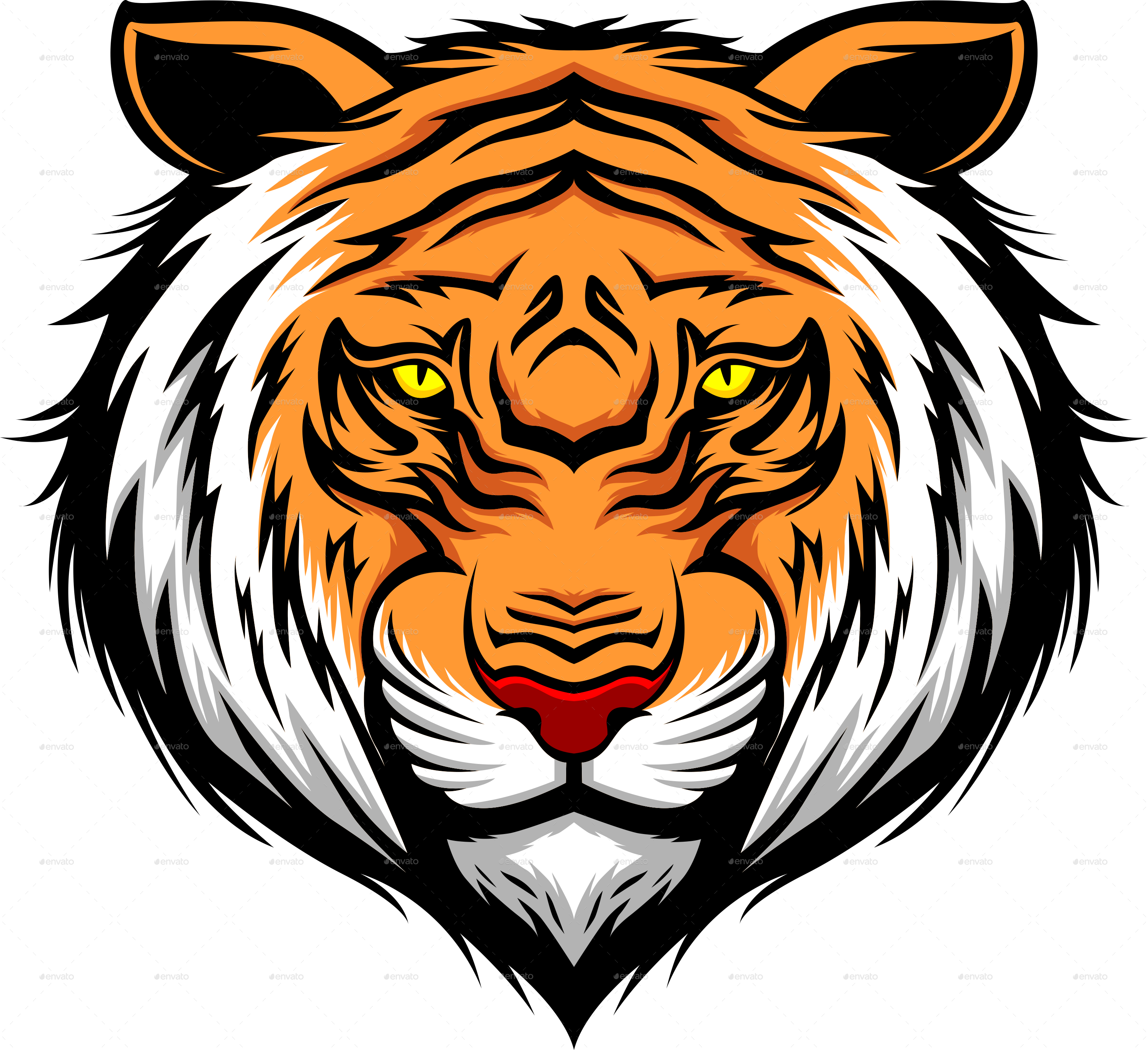 Clipart tiger angry. Download tattoos free png