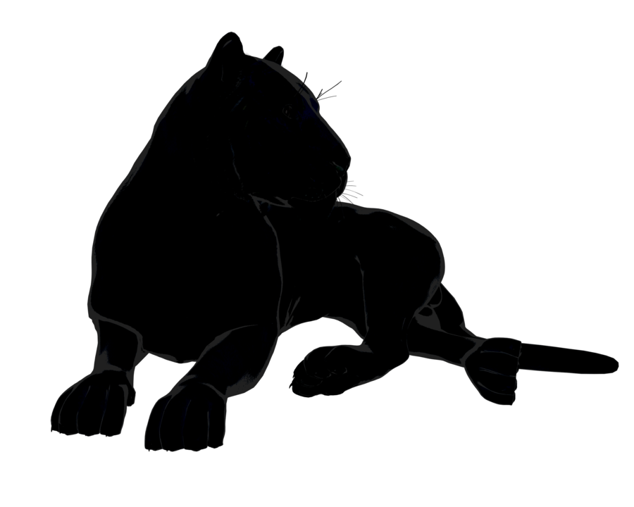 Panther clipart sport. Tiger or big black