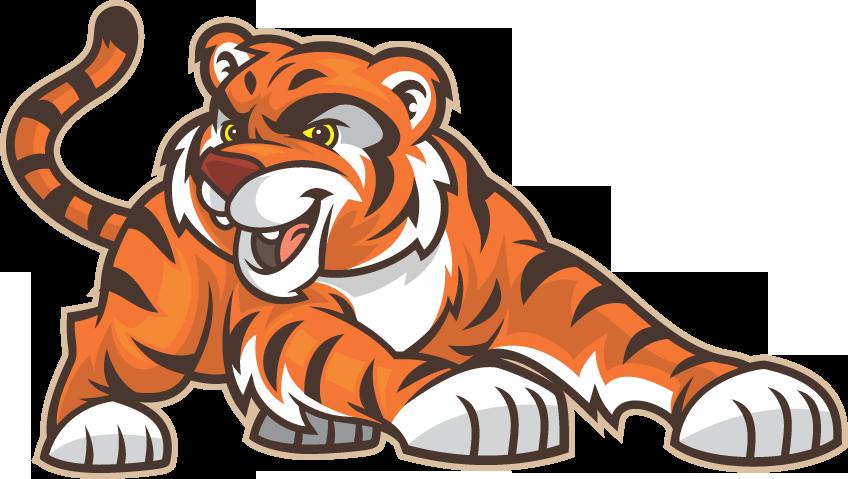 Clipart tiger cheerleading. Athletics greencastle middle school