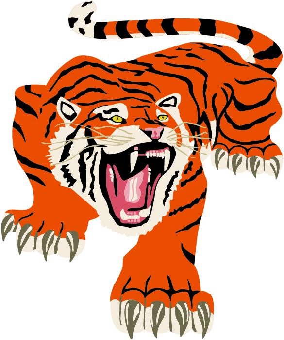 Clipart tiger cheerleading. Delano team home tigers