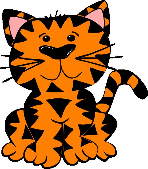Kittens clipart tiger cat. Clip art at clker