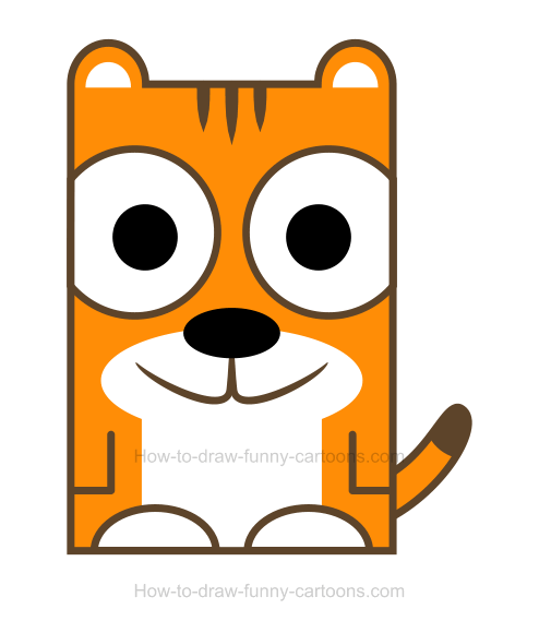 . Clipart tiger easy