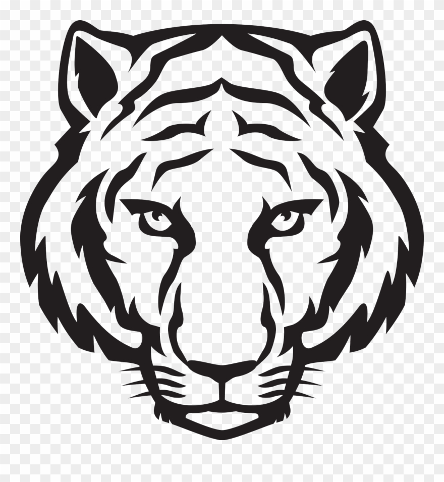 Face png to draw. Clipart tiger easy
