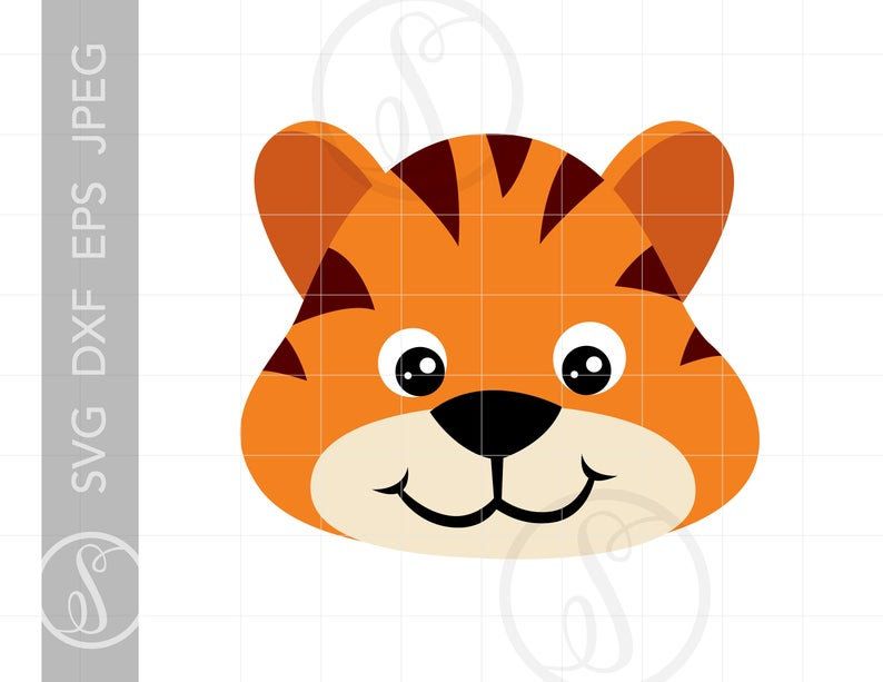 Svg cut for cricut. Clipart tiger file